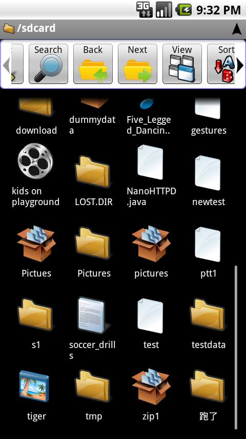 android file manager pdf thumbnails