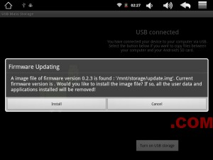 firmware update this may take some time