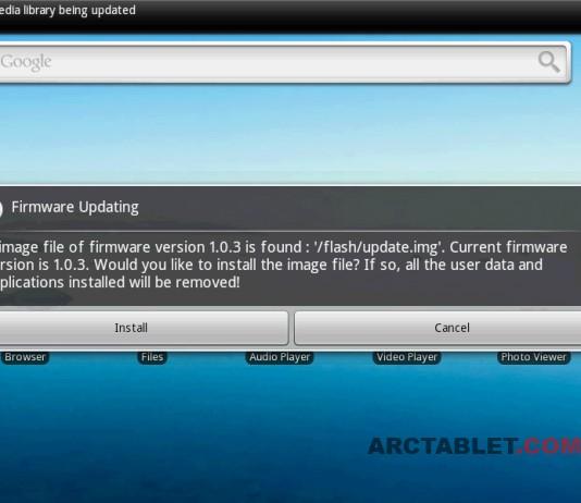Archos 101 g8 firmware upgrade.