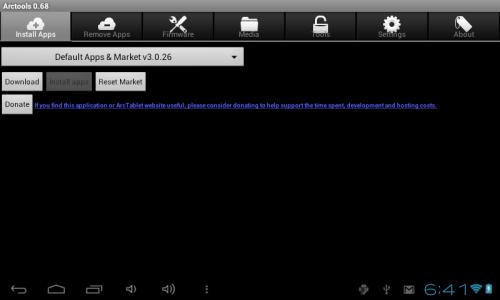 android market pour tablette archos