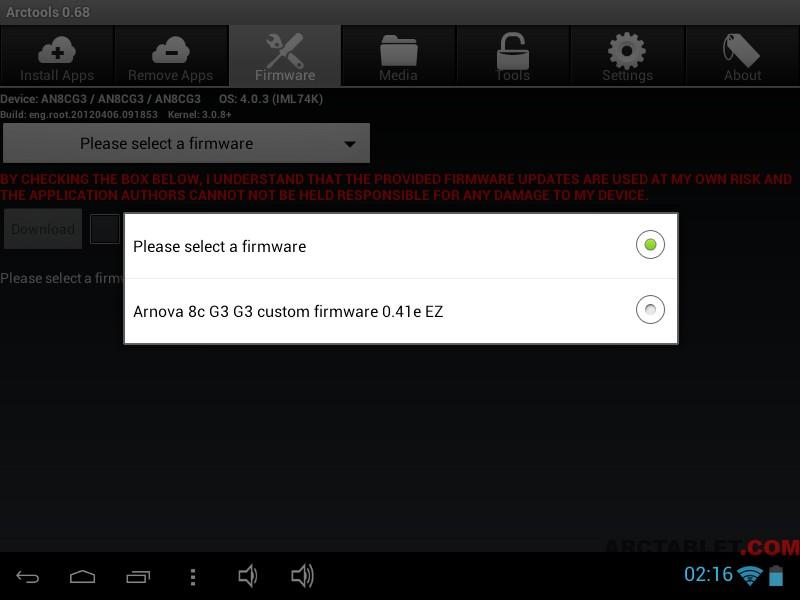 arnova 10b g3 custom firmware 0.42 ez