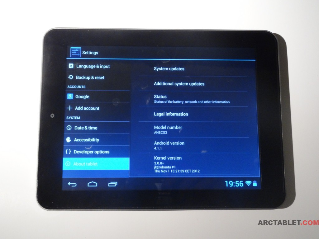 Arnova 8c G3 Android 4.1.1 JB customizable custom firmware