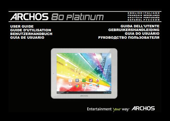 Archos 9 benutzerhandbuch