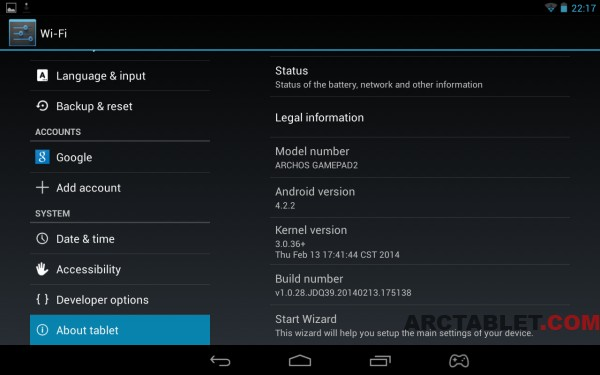 ARCHOS_GamePad2_20140213_firmware_update_installed_b